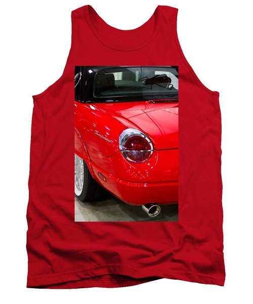 2002 Red Ford Thunderbird-rear Left Tank Top
