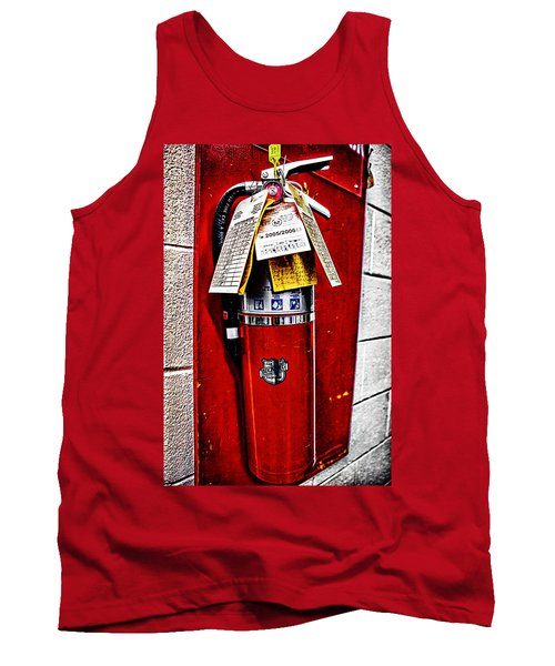 Grungy Fire Extinguisher Tank Top