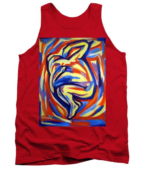 Tank Top featuring the painting Here by Helena Wierzbicki