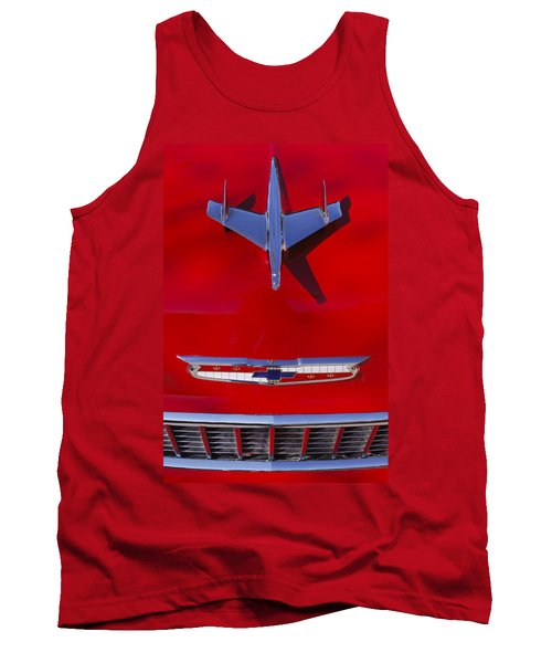 1955 Chevrolet Belair Nomad Hood Ornament Tank Top by Jill Reger
