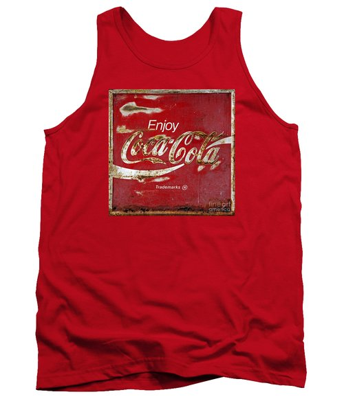 Coca Cola Vintage Rusty Sign Tank Top