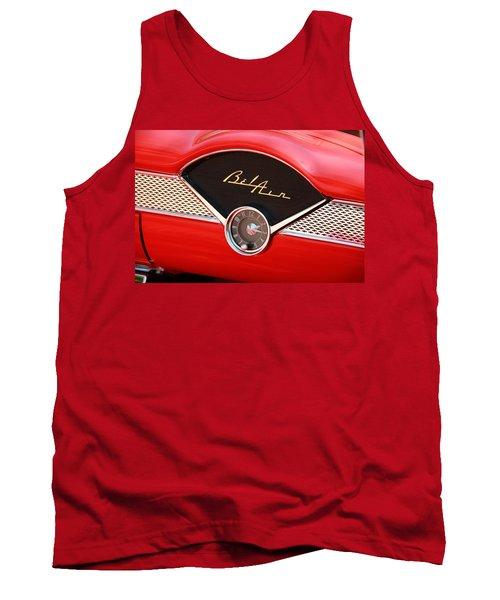 Classic Car Tank Top featuring the photograph '56 Bel Air by Aaron Berg