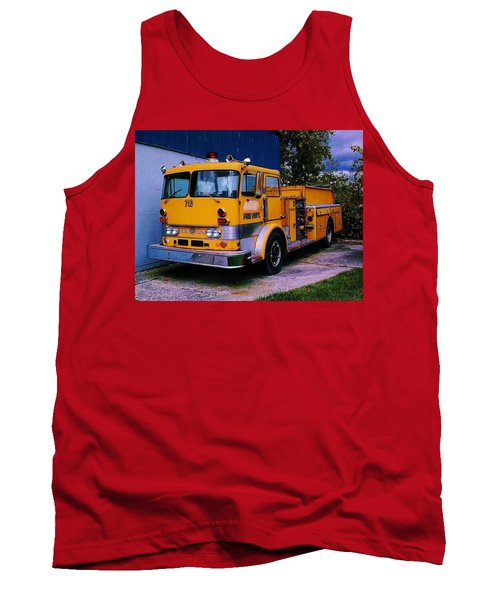 Tank Top featuring the photograph 710 ....... Fire Dept. by Daniel Thompson