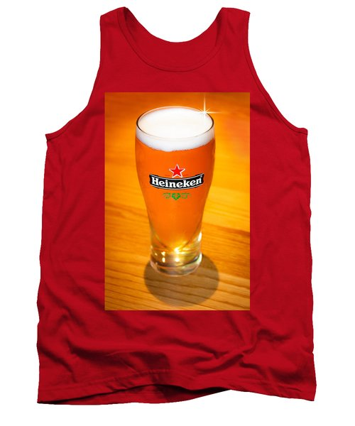 A Cold Refreshing Pint Of Heineken Lager Tank Top