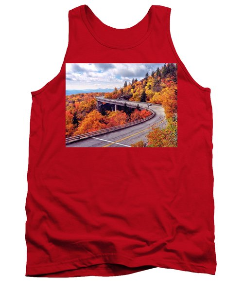 A Colorful Ride Along The Blue Ridge Parkway Tank Top