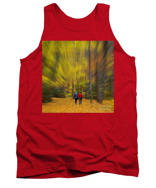 Tank Top featuring the photograph A Fall Stroll Taughannock by Jerry Fornarotto