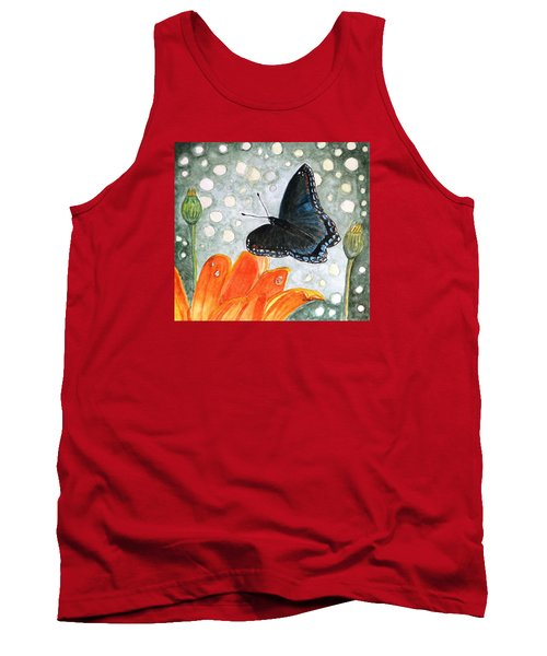 Tank Top featuring the painting A Garden Visitor by Angela Davies