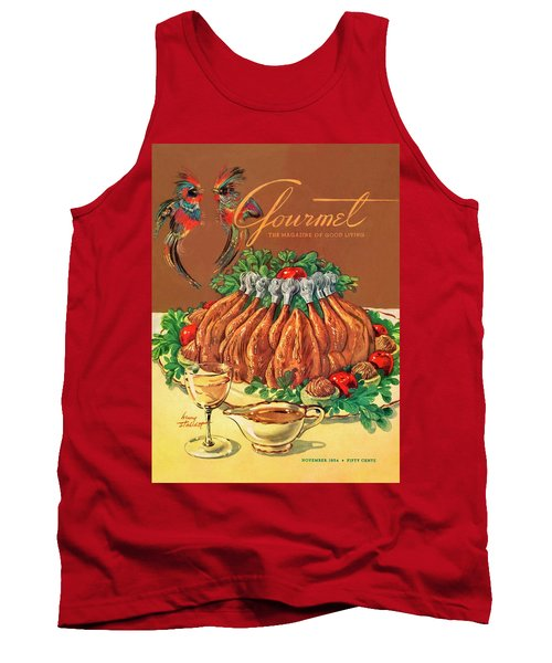 A Gourmet Cover Of Chicken Tank Top by Henry Stahlhut