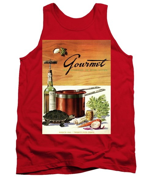 A Gourmet Cover Of Turtle Soup Ingredients Tank Top