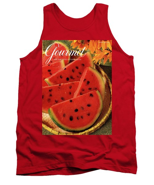 A Gourmet Cover Of Watermelon Sorbet Tank Top