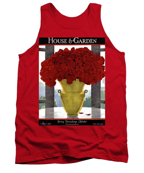 A Vase With Red Roses Tank Top