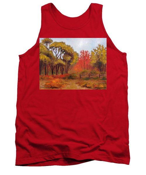 Tank Top featuring the painting Abeel Fields by Jason Williamson