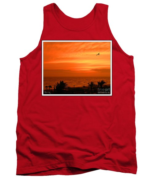 Tank Top featuring the photograph Ablaze by Mariarosa Rockefeller