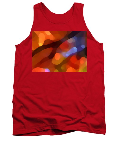 Abstract Fall Light Tank Top