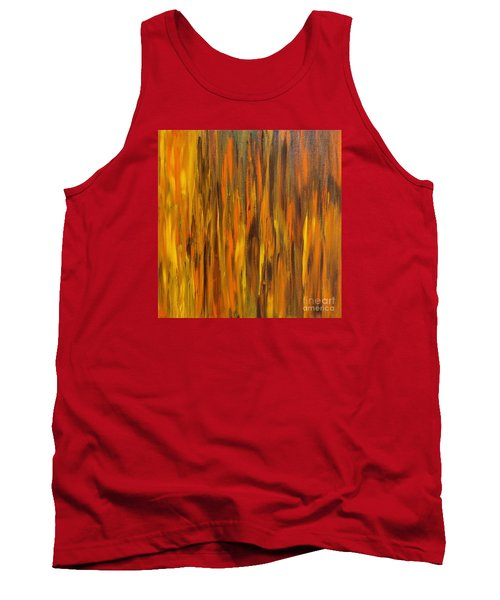 Abstract Fireside Tank Top by Susan  Dimitrakopoulos