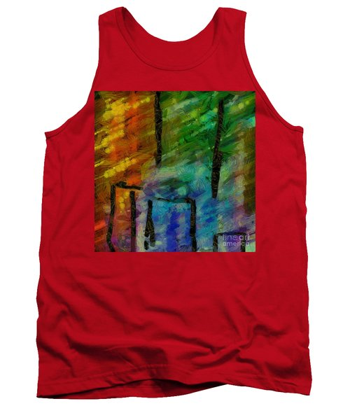 Abstract Lines 11 Tank Top