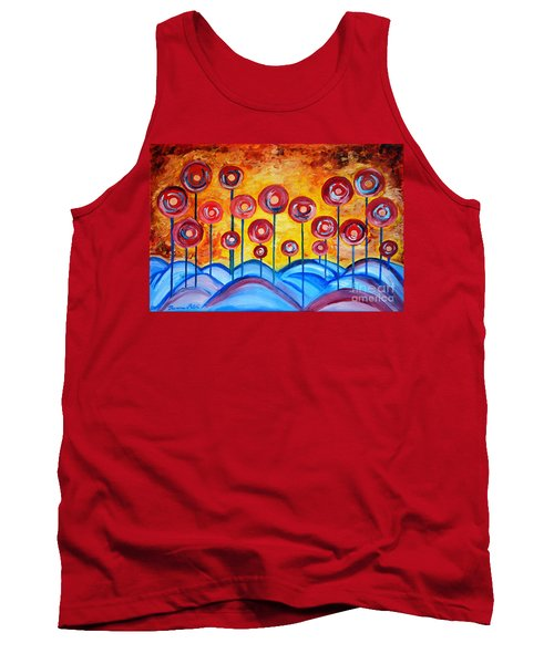 Abstract Red Symphony Tank Top