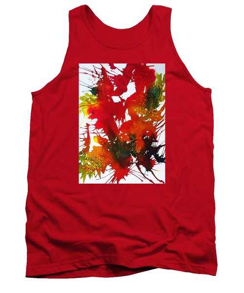 Abstract - Riot Of Fall Color II - Autumn Tank Top by Ellen Levinson