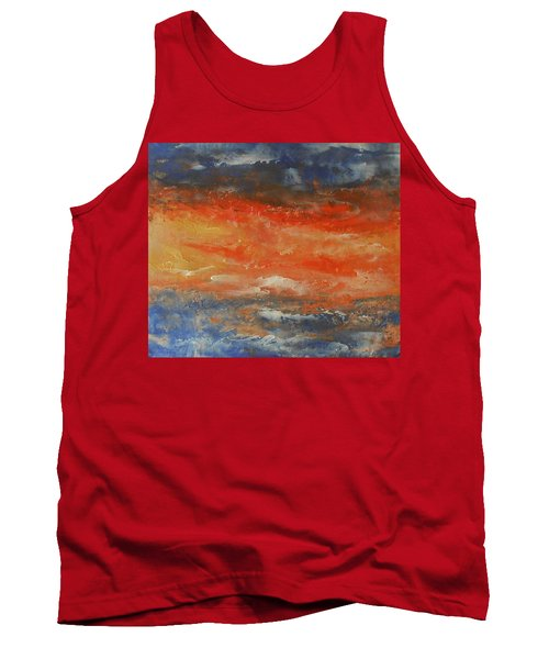 Abstract Sunset  Tank Top by Jane See