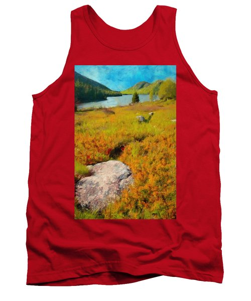 Tank Top featuring the painting Acadia Spring by Jeff Kolker