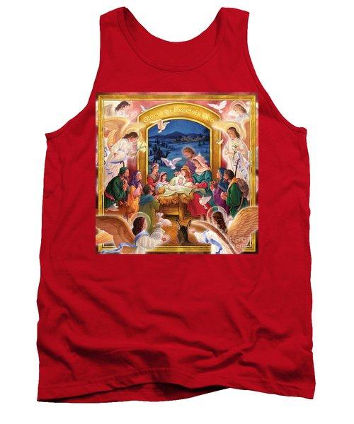 Adoring Angels Nativity Square Tank Top