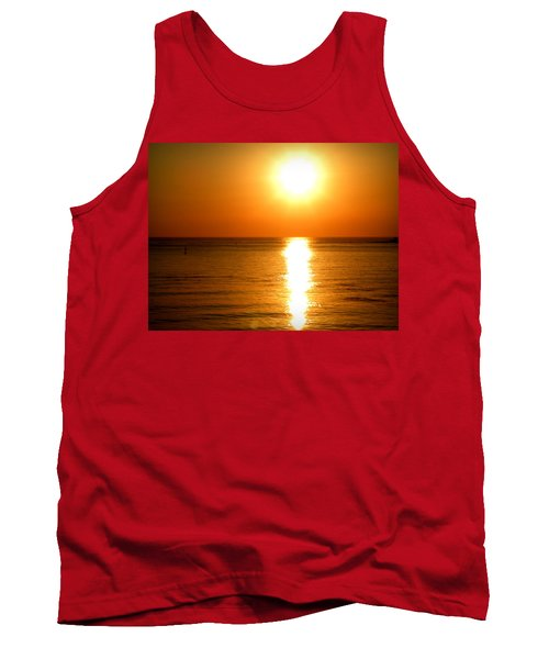 Tank Top featuring the photograph Aegean Sunset by Micki Findlay
