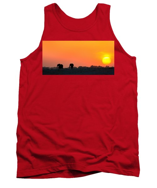 Tank Top featuring the photograph African Elephant Sunset by Amanda Stadther