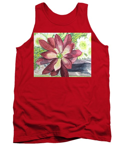 Tank Top featuring the painting African Flower by Carol Flagg
