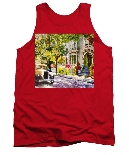 Tank Top featuring the painting Alameda  Afternoon Drive by Linda Weinstock