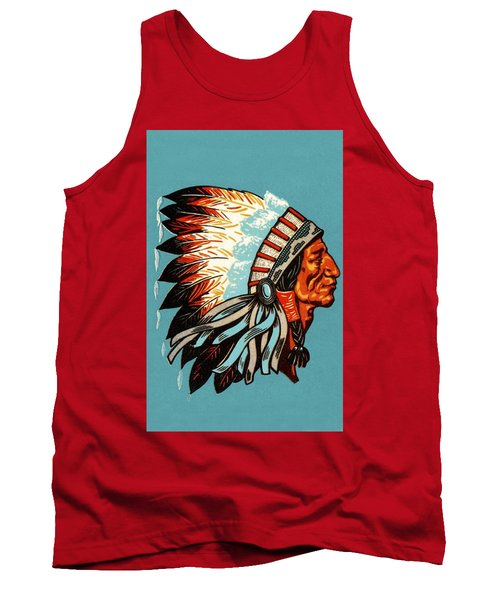 American Indian Chief Profile Tank Top