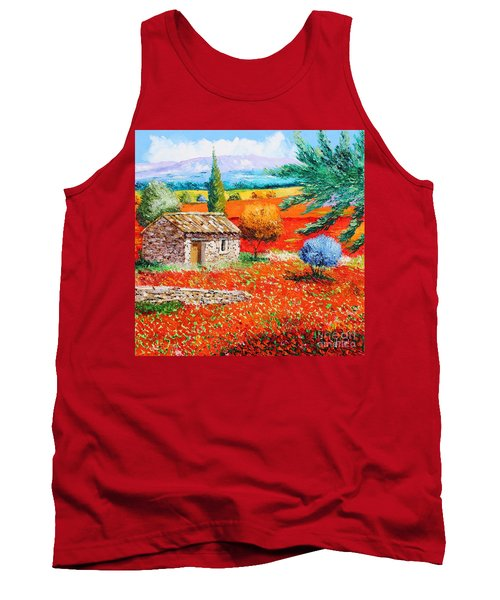 Among The Poppies Tank Top