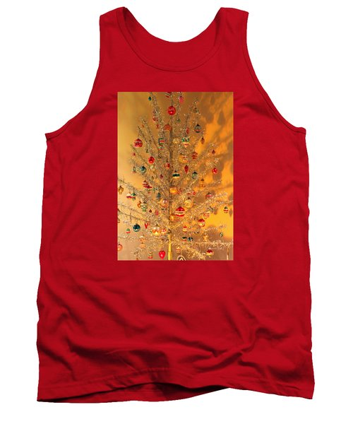 An Old Fashioned Christmas - Aluminum Tree Tank Top by Suzanne Gaff