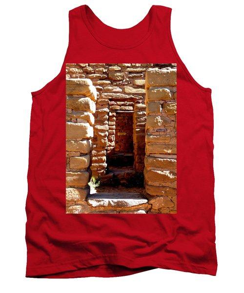 Tank Top featuring the photograph Ancient Doorways by Alan Socolik