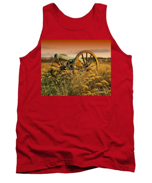 Tank Top featuring the photograph Antietam Maryland Cannon Battlefield Landscape by Paul Fearn