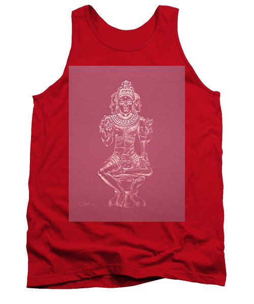 Tank Top featuring the drawing Ardhanarishvara II by Michele Myers