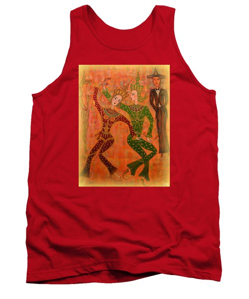Asian Dancers Tank Top by Marie Schwarzer