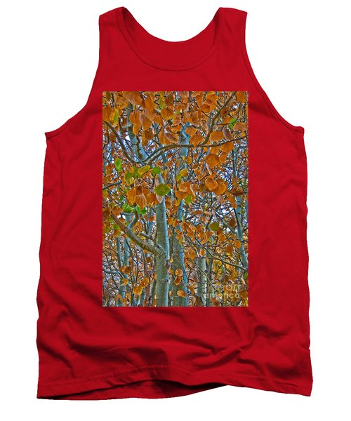 Tank Top featuring the photograph Aspen Leaves In The Fall by Mae Wertz
