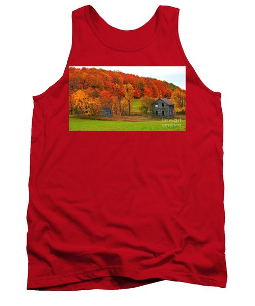 Tank Top featuring the photograph Autumn Abandoned by Terri Gostola