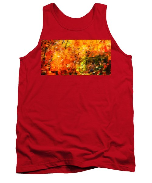 Aaron Lee Berg Tank Top featuring the photograph Autumn Colors by Aaron Berg