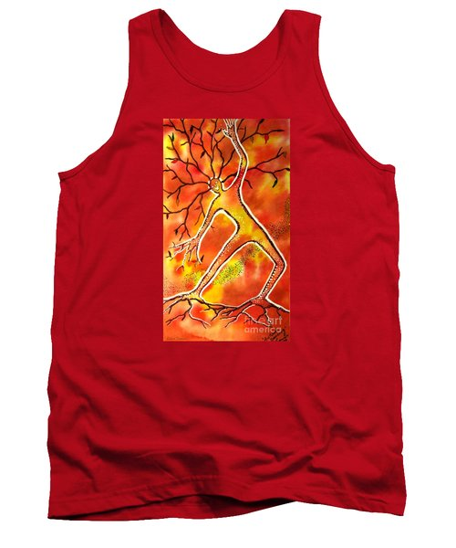 Tank Top featuring the painting Autumn Dancing by Leanne Seymour