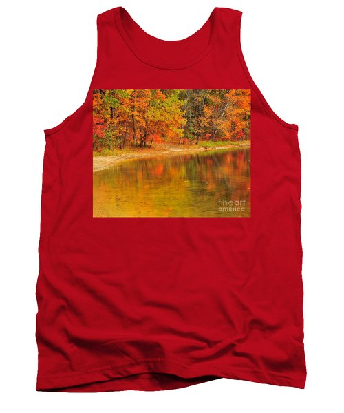 Autumn Forest Reflection Tank Top