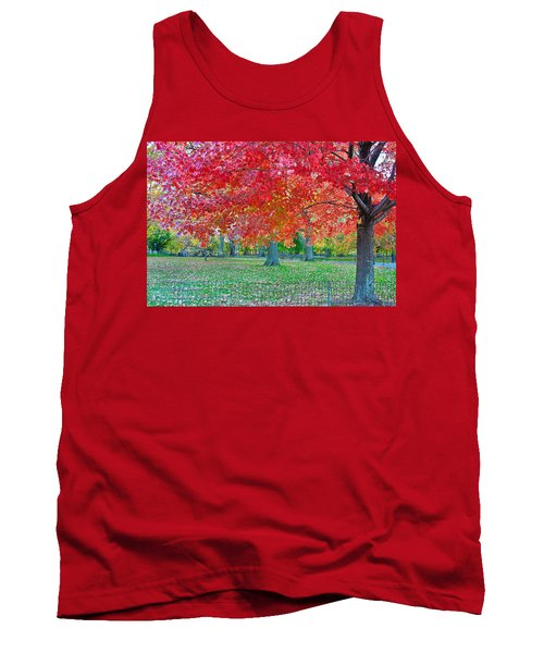 Autumn In Central Park Tank Top