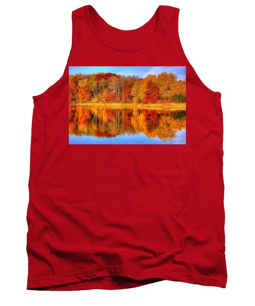 Autumn Reflections Minnesota Autumn Tank Top