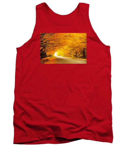 Autumn Tunnel Of Gold 8 Tank Top