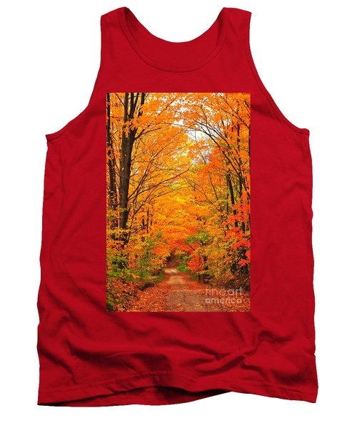 Autumn Tunnel Of Trees Tank Top