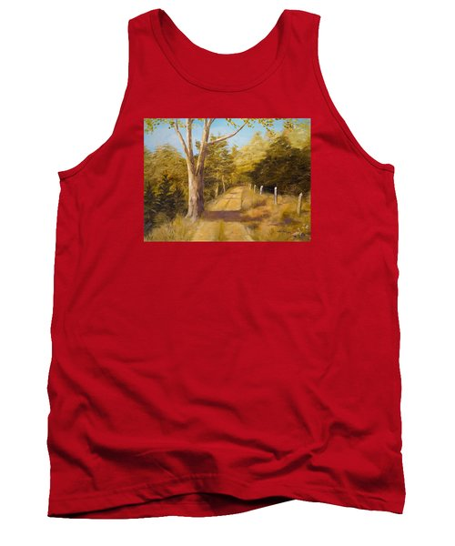 Back Road Tank Top by Alan Lakin