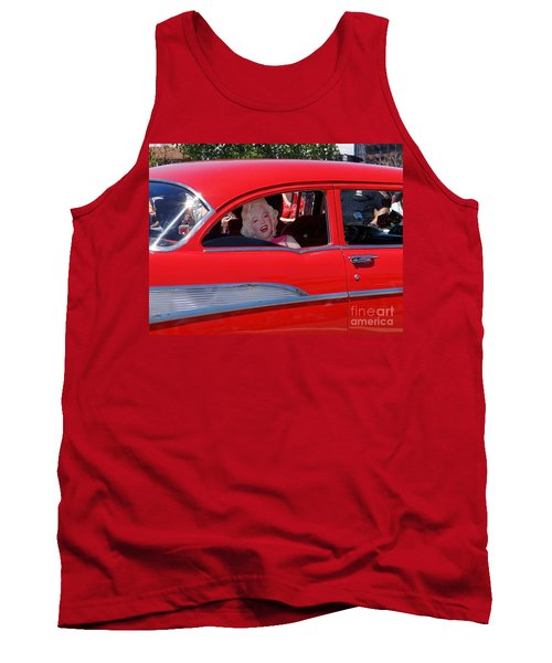 Tank Top featuring the photograph Back Seat Marilyn by Ed Weidman