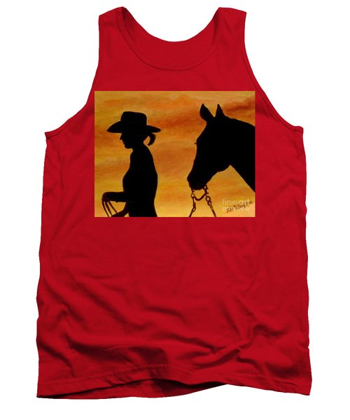 Tank Top featuring the painting Back To The Barn by Julie Brugh Riffey