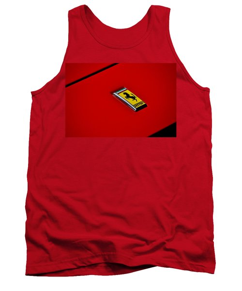 Badge In Red Tank Top by Dean Ferreira
