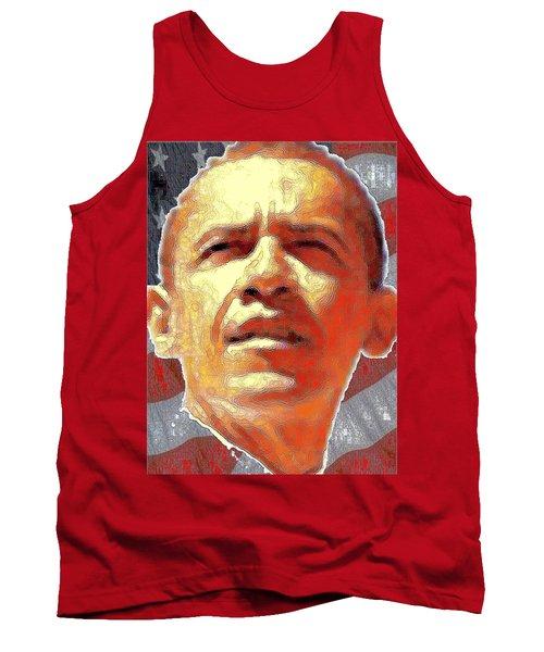 Barack Obama Portrait - American President 2008-2016 Tank Top